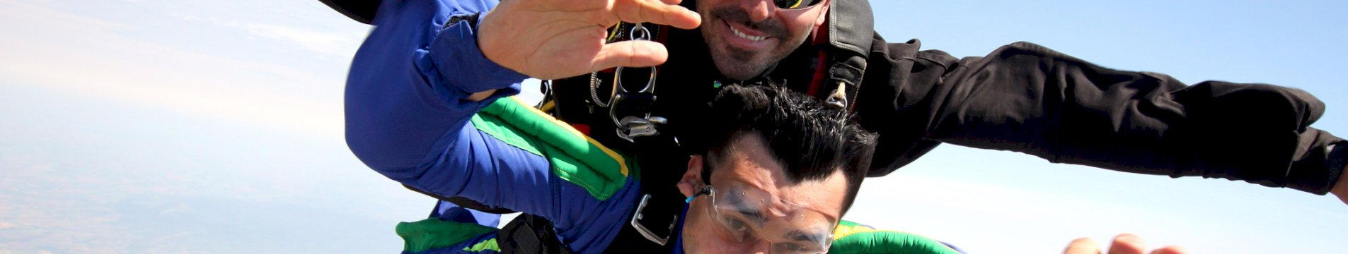 two guys sky diving