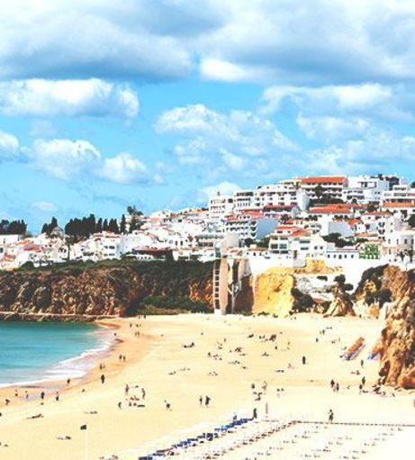 View of Albufeira's city on the bluffs. Explore Albufeira Stag Party ideas below:
