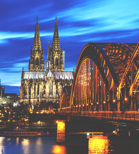 Looking down the Rhine at night. Explore Cologne Stag Party ideas below: