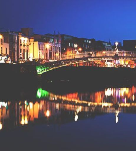 Ha'penny Bridge at dawn. Discover Dublin Stag Party ideas below: