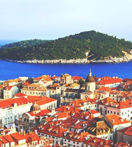 Looking over Old Town towards Lokrum Island. Discover Dubrovnik Stag Party ideas below: