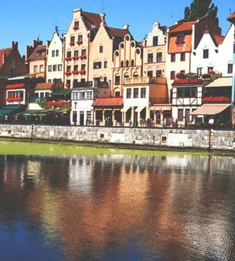 View of the city from Motlawa River. Explore Gdansk Stag Party ideas below: