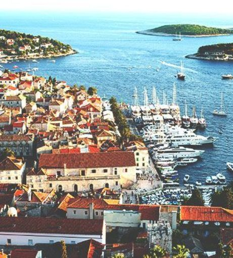 Aerial picture of Hvar and the Pakleni Islands. Explore Hvar Stag Party ideas below:
