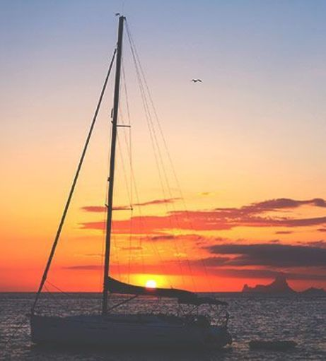 Sunset sail on the Mediterranean Ocean. Explore Ibiza Stag Party ideas below: