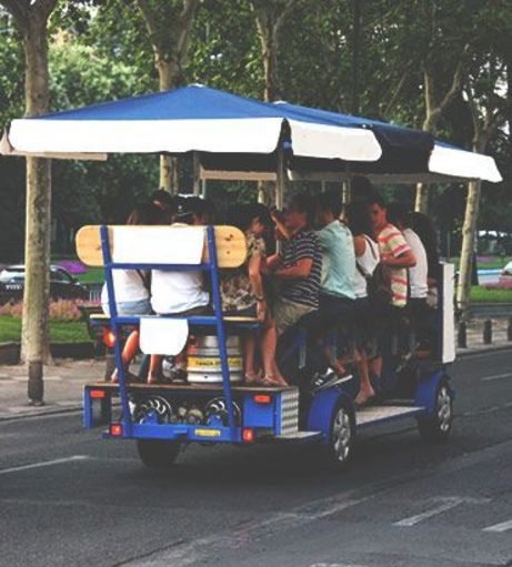 Madrid Stag Do Ideas - Beer Bike