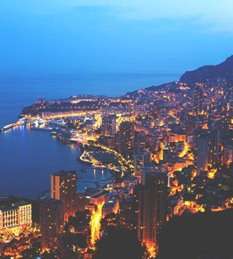 View of the coast at sunset. Discover Monte Carlo Stag Party ideas below: