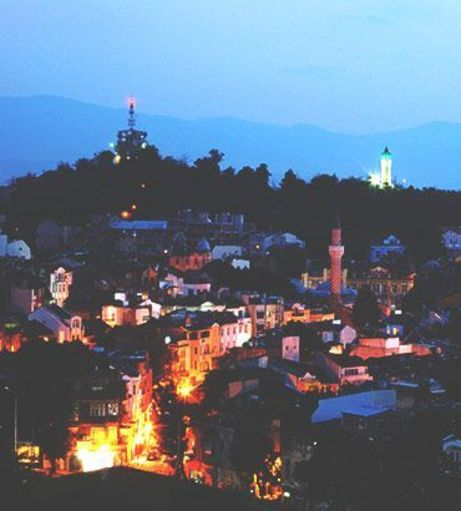 Old Town Plovdiv sparkling as the sun goes down. Discover Plovdiv Stag Party ideas below: